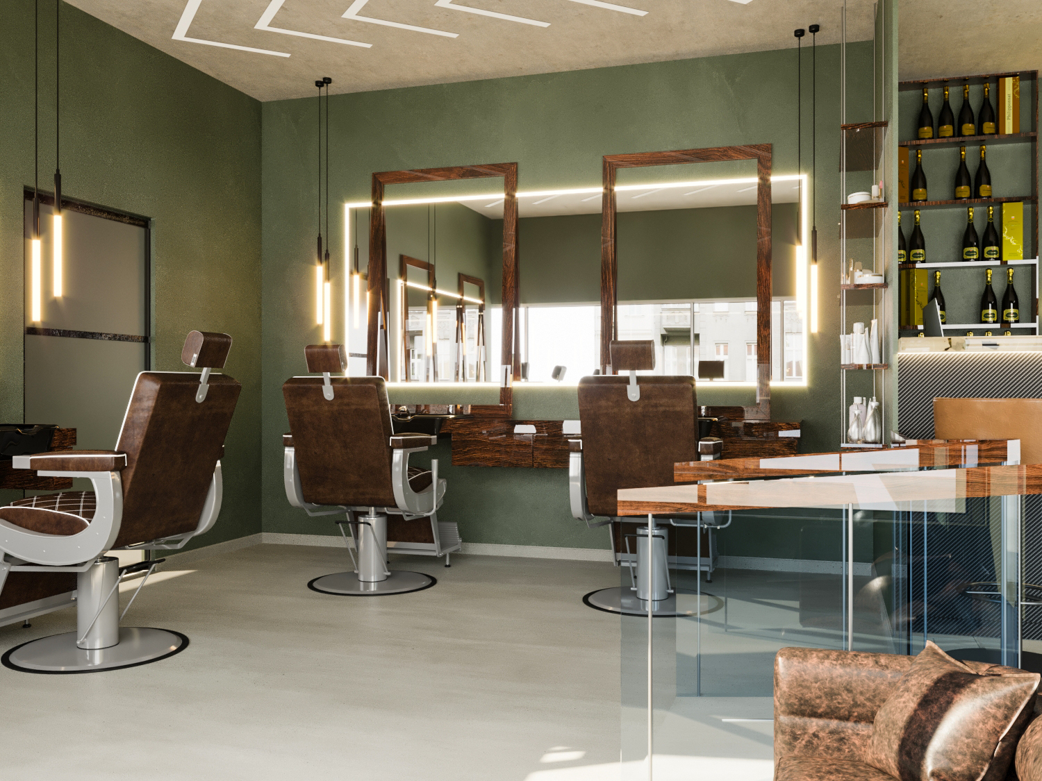 Barbershop design in San Pedro (Marbella, Spain)