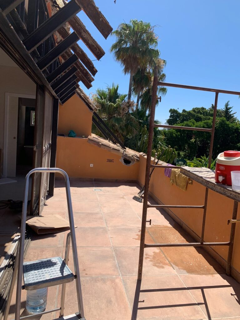 Terrace Extension in the Villa in Nagueles, Marbella