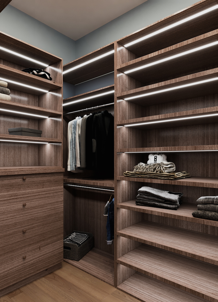 Walk in closet design, interior design Marbella